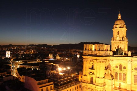 Malaga Cathedral dark